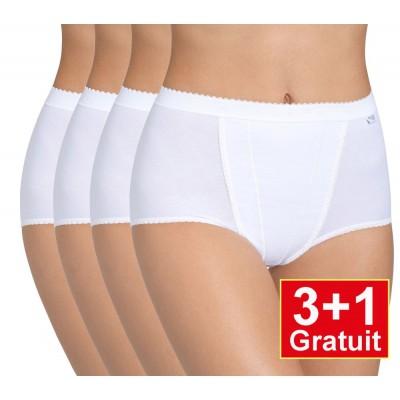 Sloggi Control Maxi 4-pack (3+1 gratuit) - lot de 4 slips - blanc